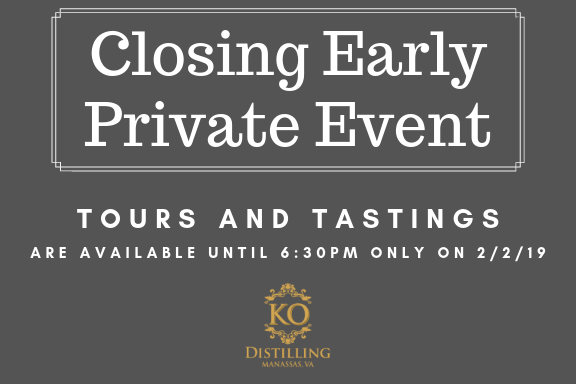 Closing Early - Private Event