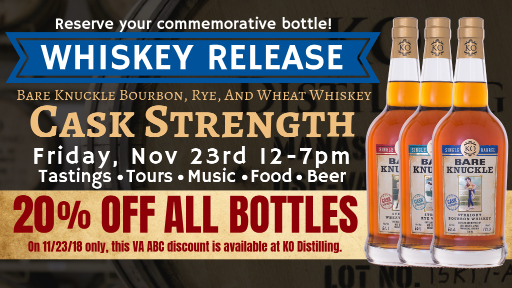 Bare Knuckle Cask Strength Whiskey Release