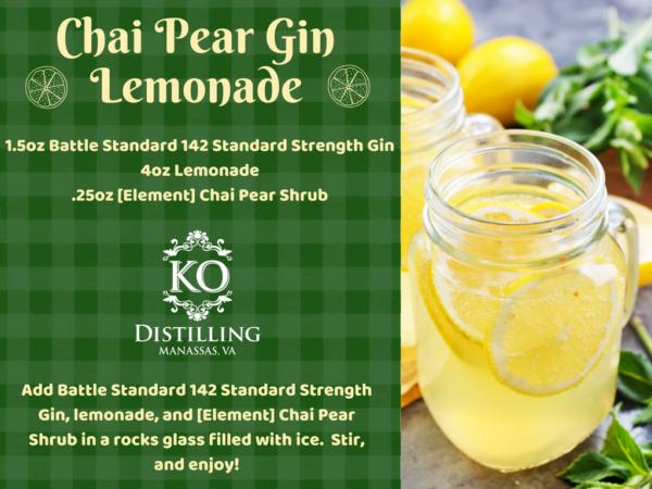 Chai Pear Gin Lemonade