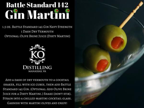 Battle Standard 142 Gin Martini