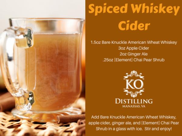 Spiced Whiskey Cider