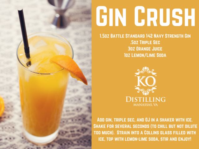 Battle Standard 142 Gin Navy Strength Recipes – KO Distilling