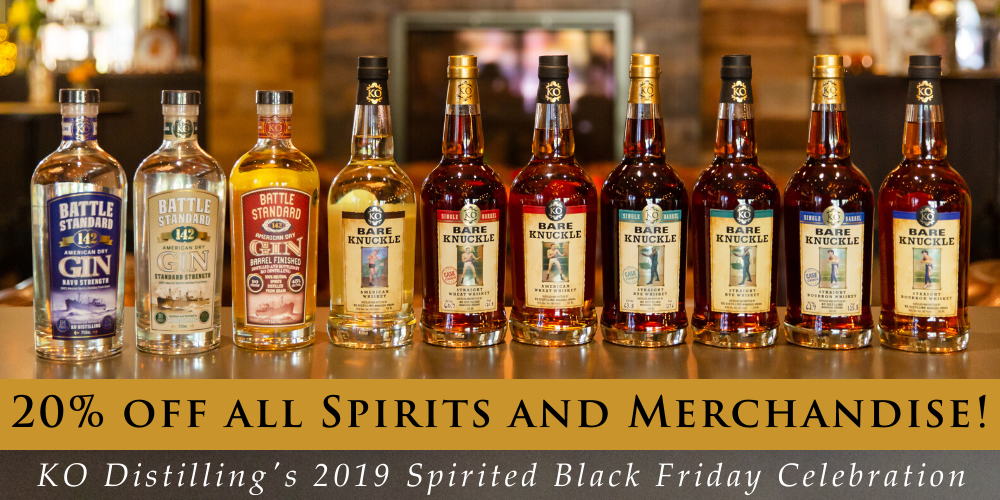 Spirited Black Friday Celebration at KO Distilling - 20% off spirits and gifts!